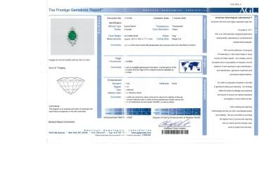 View 3. Thumbnail of Lot 164. Emerald and Diamond Pendant-Necklace [祖母綠配鑽石吊墜項鏈].