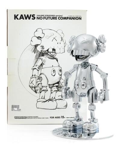 View 7. Thumbnail of Lot 8. KAWS X Hajime Sorayama No Future Companion (Silver Chrome).