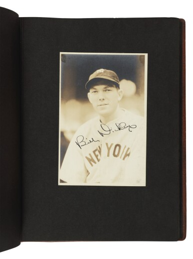 View 5. Thumbnail of Lot 145. The New York Yankees | Photo album of the 1931 New York Yankees, signed by 19 members of the team, including 10 future Hall of Famers, made for Yankees coach Jimmy Burke.