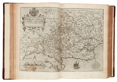 View 2. Thumbnail of Lot 42. William Camden | Britannia, London, 1607, old reversed calf.
