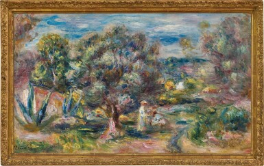 View 3. Thumbnail of Lot 1016. Pierre-Auguste Renoir 皮耶・奧古斯特・雷諾瓦   Aloès, la cueillette à Cagnes 卡涅蘆薈採摘.