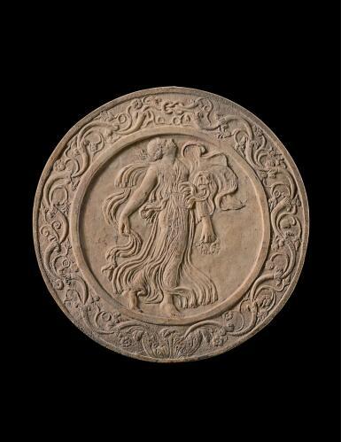 A ROMAN MARBLE CIRCULAR OSCILLUM, CIRCA 1ST CENTURY B.C.