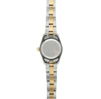 View 5. Thumbnail of Lot 82. REFERENCE 76193 OYSTER PERPETUAL A STAINLESS STEEL AND YELLOW GOLD AUTOMATIC WRISTWATCH WITH BRACELET, CIRCA 2001.