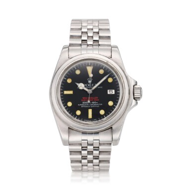 View 12. Thumbnail of Lot 125. REFERENCE 1665 'DOUBLE RED' SEA DWELLER A STAINLESS STEEL WRISTWATCH DATE AND BRACELET, CIRCA 1978.