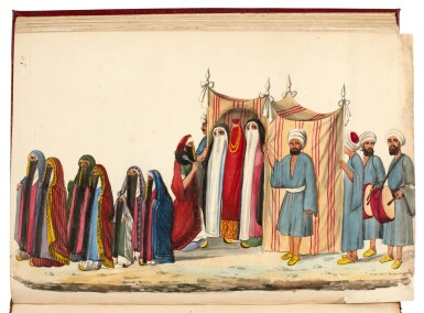 View 2. Thumbnail of Lot 82. EGYPT | Album of seventy six watercolours of Egyptian costume and views, 19th century.