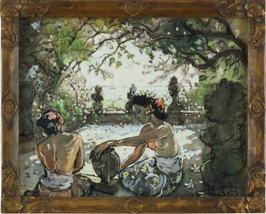 View 2. Thumbnail of Lot 4583. Two Balinese Women Working | 勤勞的峇里女子.