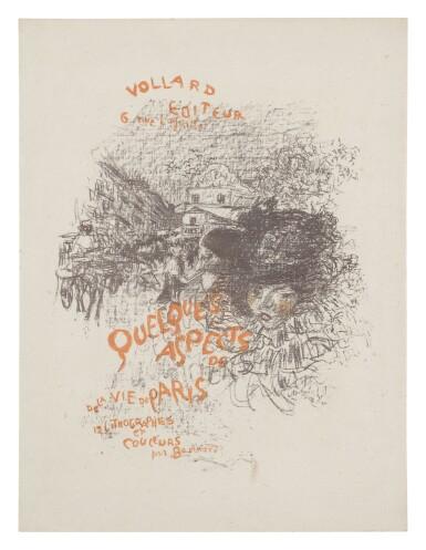 PIERRE BONNARD   QUELQUES ASPECTS DE LA VIE DE PARIS: COUVERTURE DE L'ALBUM (BOUVET 58)