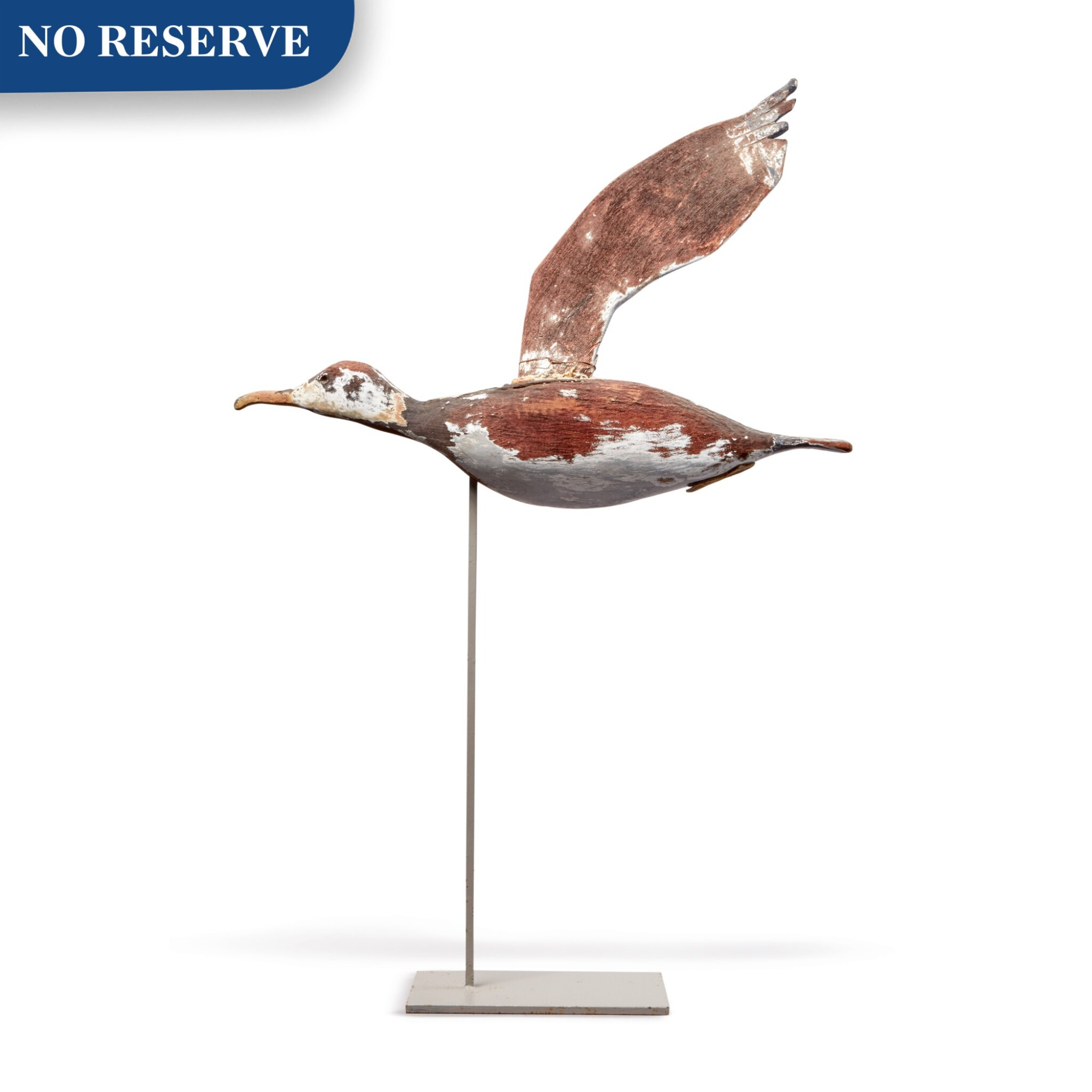 American Carved and Paint-Decorated Wooden Seagull Weathervane, circa 1910-1920