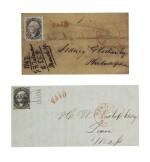 Postmasters' Provisionals New York, NY. 1845 5c Black (9X1,1a,1b,1e)
