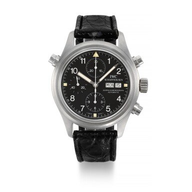 REFERENCE 3711, DOPPELCHRONOGRAPH STAINLESS STEEL SPLIT-SECONDS CHRONOGRAPH WRISTWATCH WITH DAY AND DATE CIRCA 1995