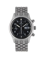 IWC | DER FLIEGERCHRONOGRAPH, REF 3706 STAINLESS STEEL CHRONOGRAPH WRISTWATCH WITH DAY, DATE AND BRACELET CIRCA 2000
