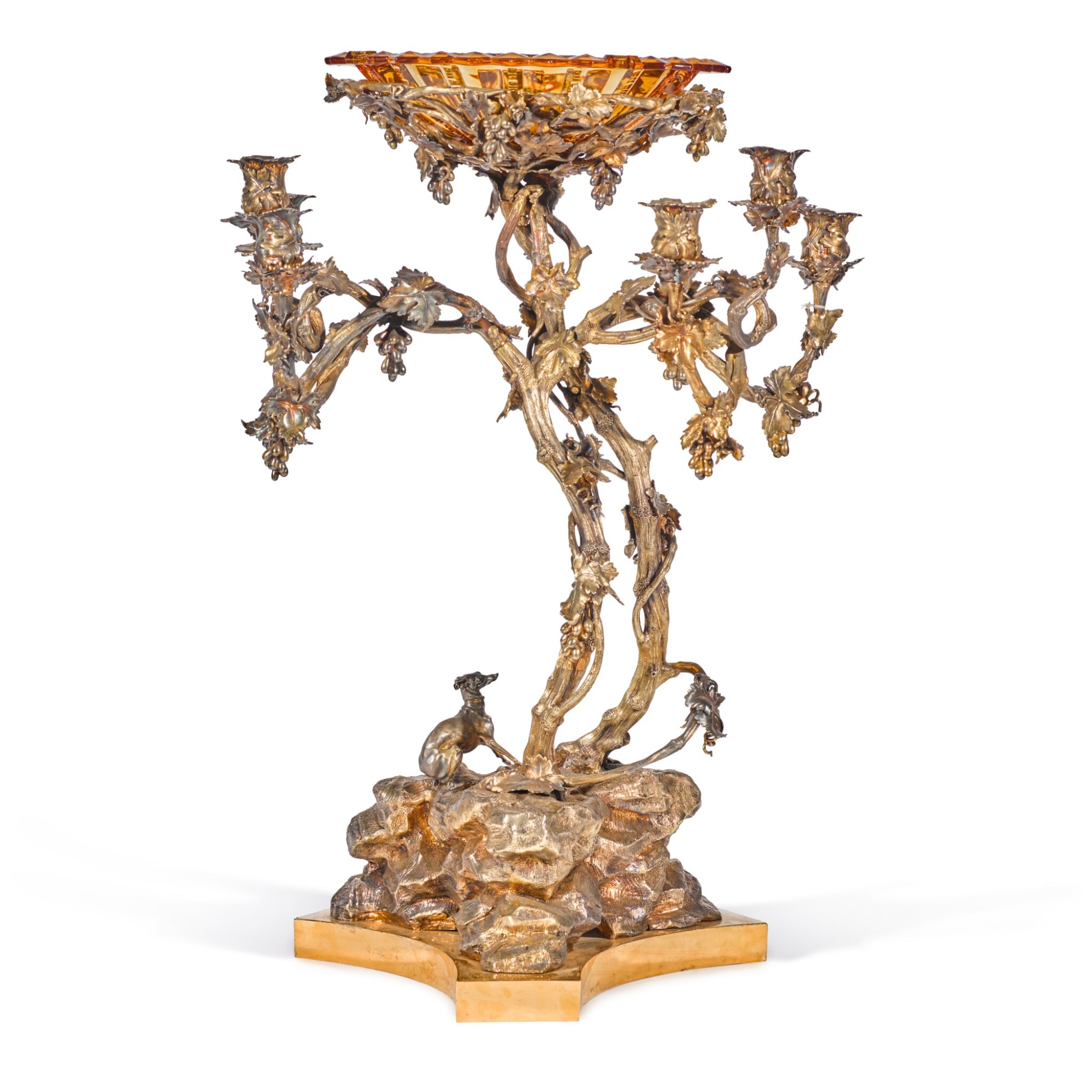 View full screen - View 1 of Lot 205. A monumental silver candelabra centerpiece, Sazikov, St Petersburg, 1850.
