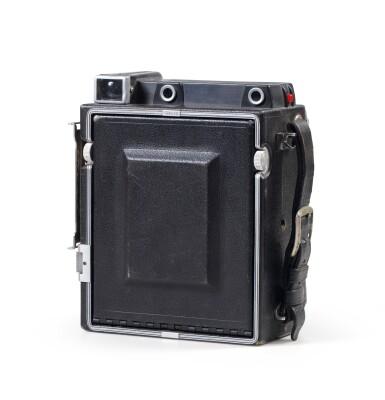 View 2. Thumbnail of Lot 3. Graflex Speed Graphic camera.