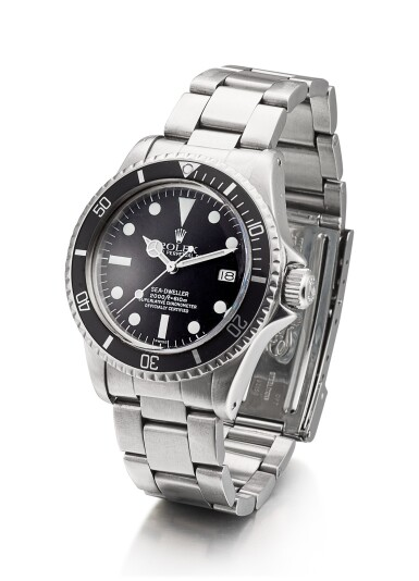 View 2. Thumbnail of Lot 1102. ROLEX | SEA-DWELLER, REFERENCE 1665, A STAINLESS STEEL WRISTWATCH WITH DATE, SERVICE DIAL AND BRACELET, CIRCA 1978.