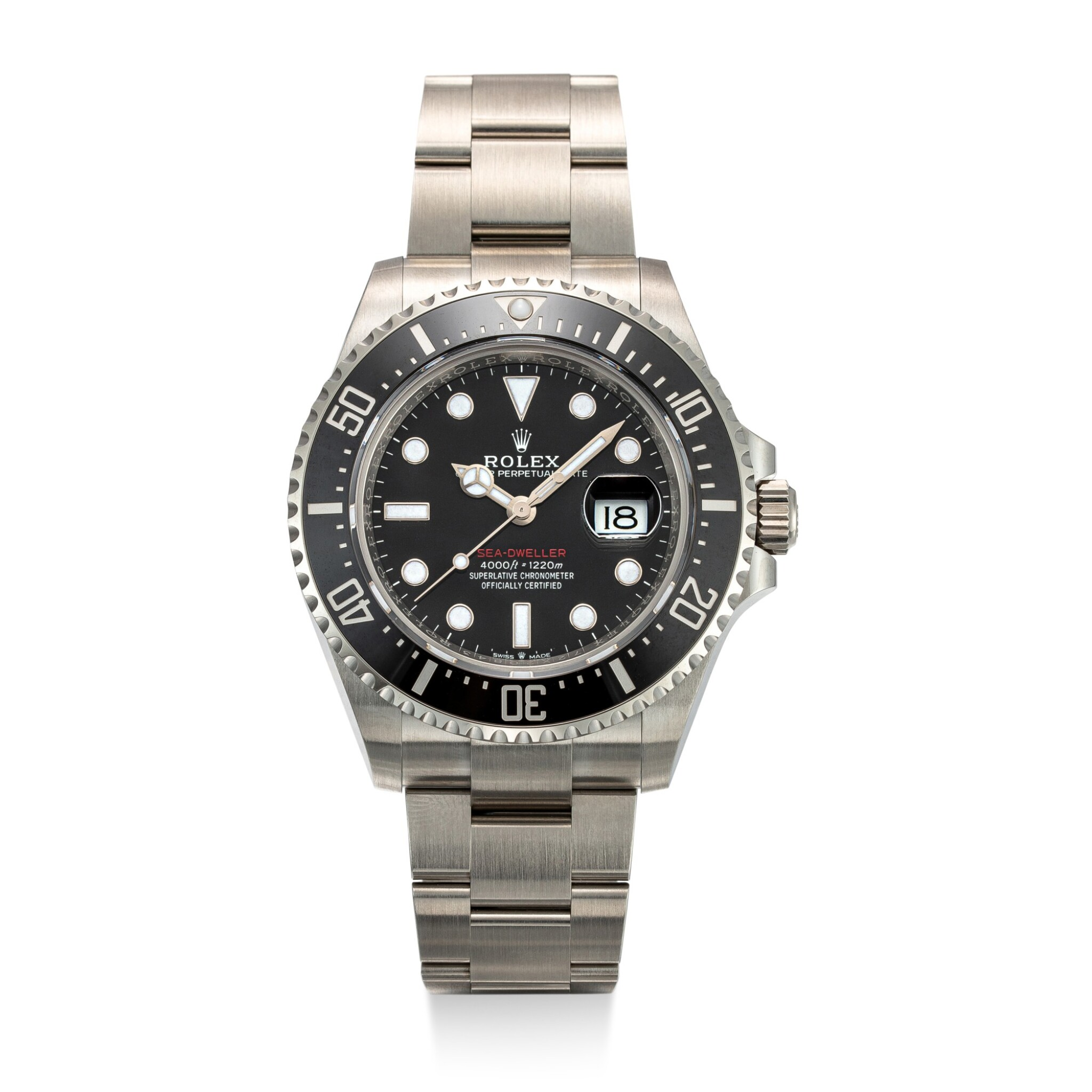 View full screen - View 1 of Lot 606. ROLEX | SEA-DWELLER, REFERENCE 126600,  A STAINLESS STEEL WRISTWATCH WITH DATE AND BRACELET, CIRCA 2019.