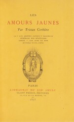 CORBIERE. Les Amours Jaunes. 1873. Edition originale. 1/9 exemplaires sur papier jonquille. Rare.