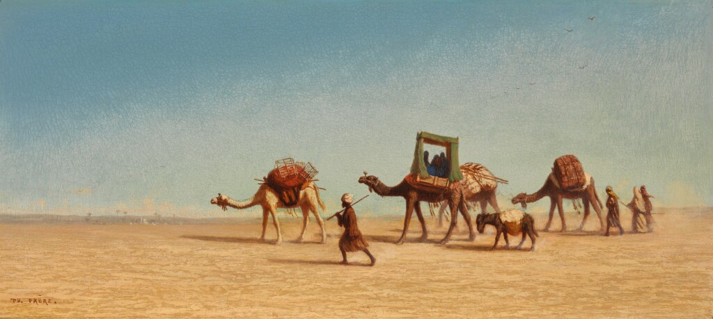 CHARLES THÉODORE FRÈRE |  A FAMILY CROSSING THE DESERT