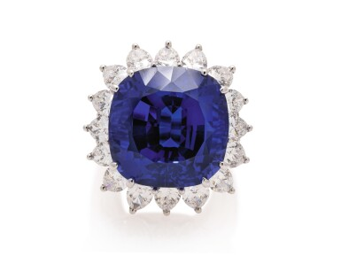 View 1. Thumbnail of Lot 44. TIFFANY & CO. | TANZANITE AND DIAMOND RING.