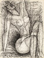 Femme nue assise