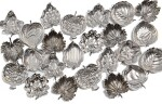A SET OF TWENTY-FOUR SILVER PLACECARD HOLDERS, BUCCELLATI, MILAN AND BOLOGNA, 20TH CENTURY