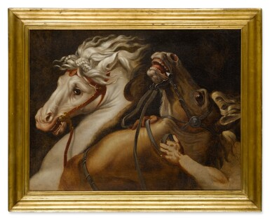 View 3. Thumbnail of Lot 17. A study of two horses.