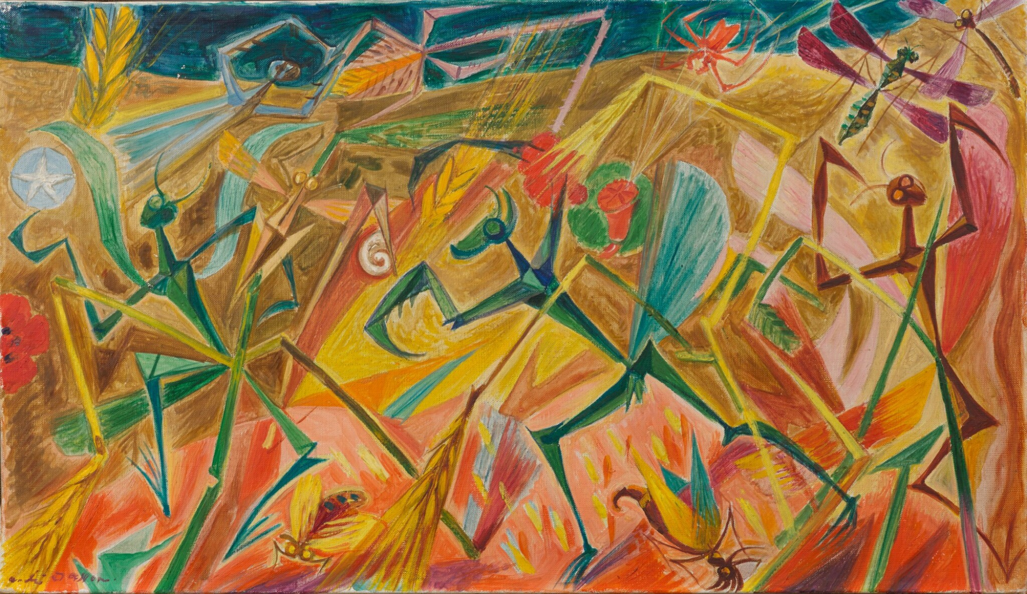 View full screen - View 1 of Lot 40. ANDRÉ MASSON | FIANÇAILLES D'INSECTES.