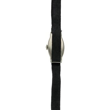 View 5. Thumbnail of Lot 162. A white gold wristwatch, Circa 1925 .