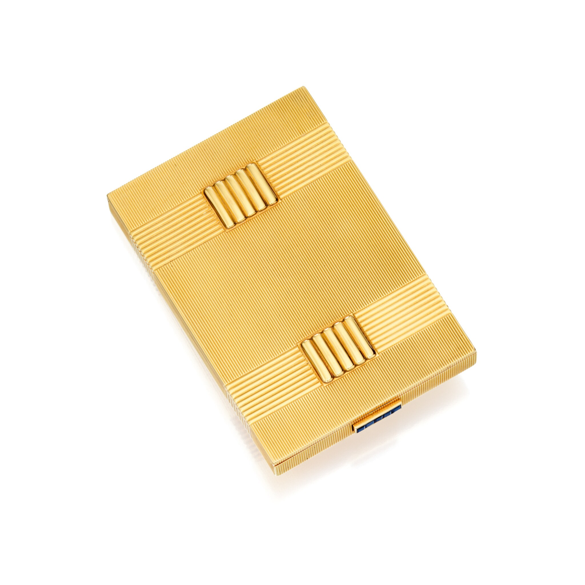View full screen - View 1 of Lot 501. GOLD AND SAPPHIRE CIGARETTE CASE, VAN CLEEF & ARPELS, FRANCE | 黃金鑲藍寶石煙盒,梵克雅寶.