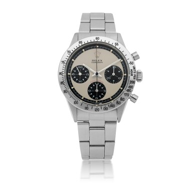 ROLEX | PAUL NEWMAN 'PANDA' DAYTONA, REF 6262 STAINLESS STEEL CHRONOGRAPH WRISTWATCH WITH BRACELET CIRCA 1971