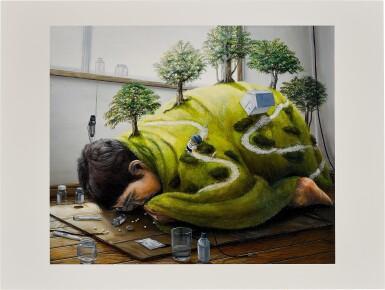 View 4. Thumbnail of Lot 96. Tetsuya Ishida Memorial Print 2014: i. Cargo/ ii. Untitled/ iii. Plant-eating Dragon (Set of Three) | 石田徹也紀念版畫2014:I. 荷/ II. 無題/ III. 草食竜 (一套三幅).