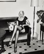 HELMUT NEWTON | 'NADJA ADJUSTING STOCKING', HOTEL BALMORAL, MONTE CARLO, 1994