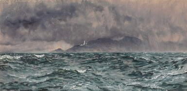 View 1. Thumbnail of Lot 96. Heavy Squall off the Start Lighthouse.