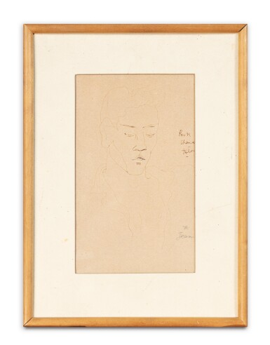 View 3. Thumbnail of Lot 101. Pas de chance (Portrait de Marcel Servais).