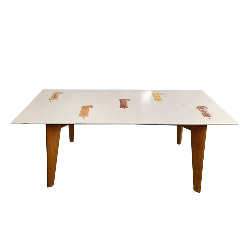 Mid-Century Modern Pietra Dura Coffee Table