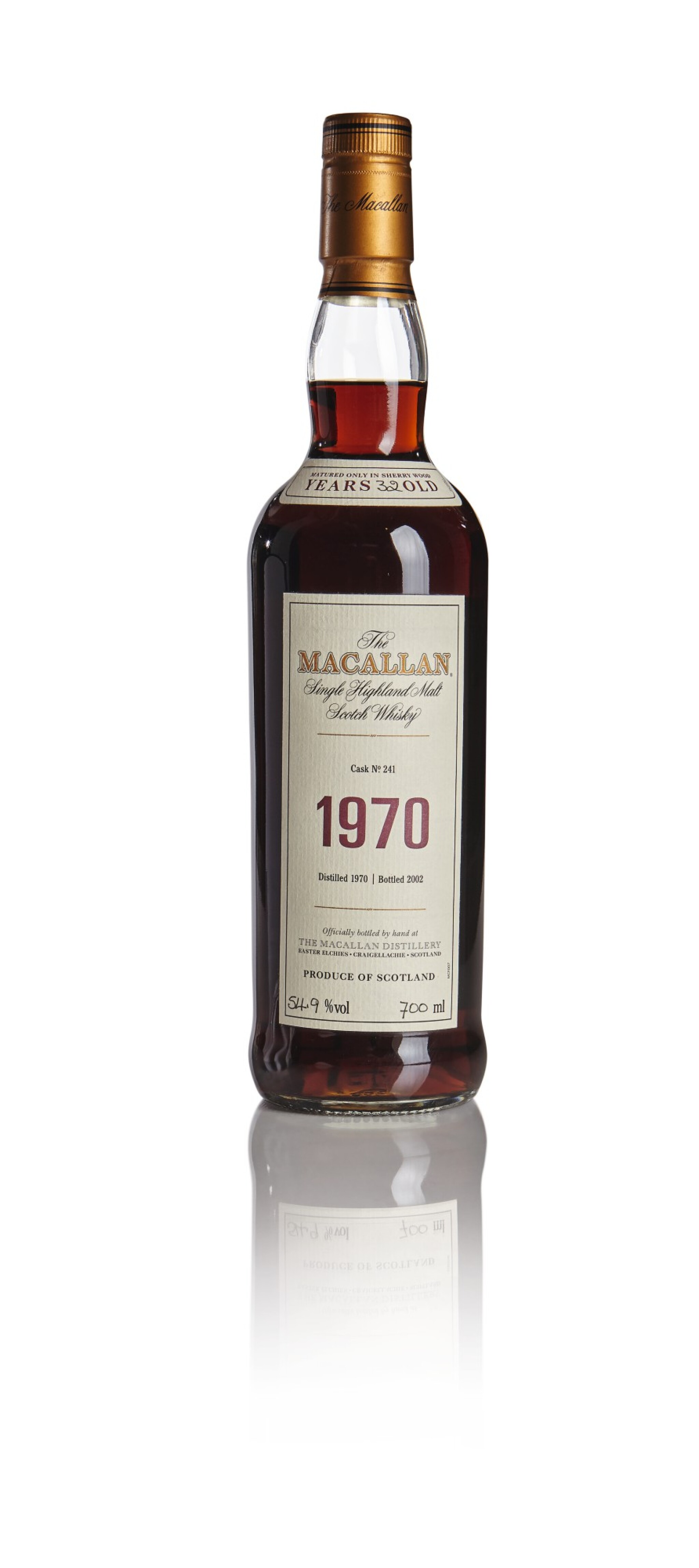 View full screen - View 1 of Lot 84. THE MACALLAN FINE & RARE 32 YEAR OLD 54.9 ABV 1970 .