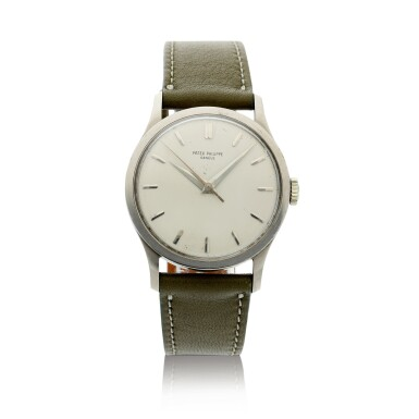 View 1. Thumbnail of Lot 37. PATEK PHILIPPE | REFERENCE 570 CALATRAVA  A WHITE GOLD WRISTWATCH, MADE IN 1966.