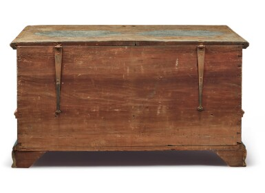 View 6. Thumbnail of Lot 356. Federal Polychrome Paint-Decorated Poplar Blanket Chest with Two Drawers, Lancaster County, Pennsylvania, Circa 1780.