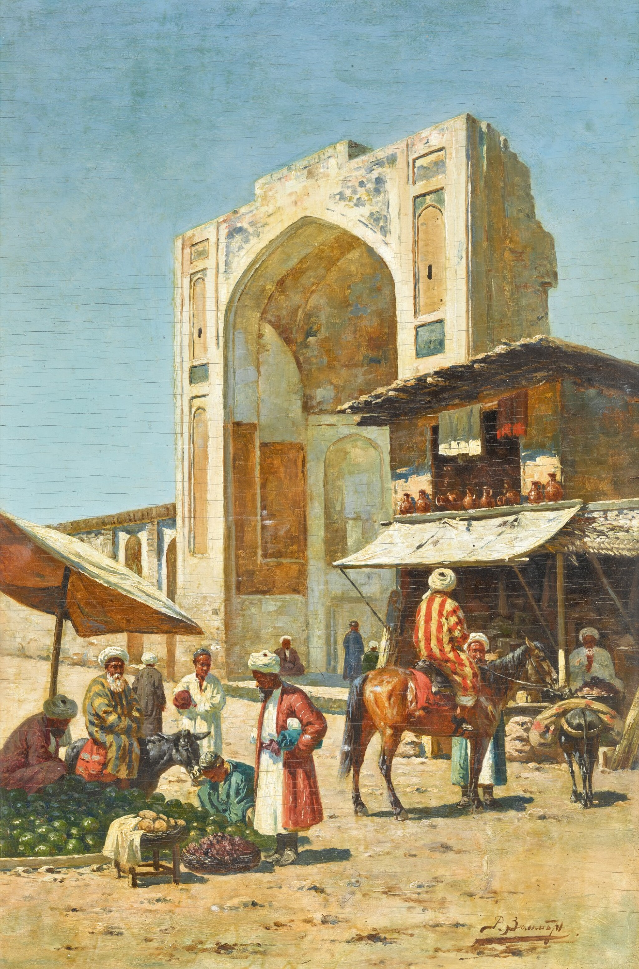 View full screen - View 1 of Lot 21. RICHARD KARLOVICH ZOMMER | STREET TRADERS IN SAMARKAND.