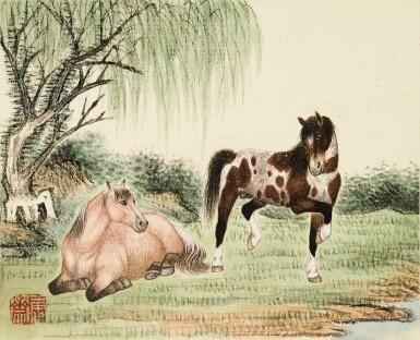 View 6. Thumbnail of Lot 3015. PU JIN; PU ZUO 溥伒、溥佐 | Landscapes and Horses 山水駿馬合璧冊.