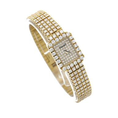 View 3. Thumbnail of Lot 29. Reference 15241 C626   A yellow gold and diamond-set bracelet watch, Circa 1990 .