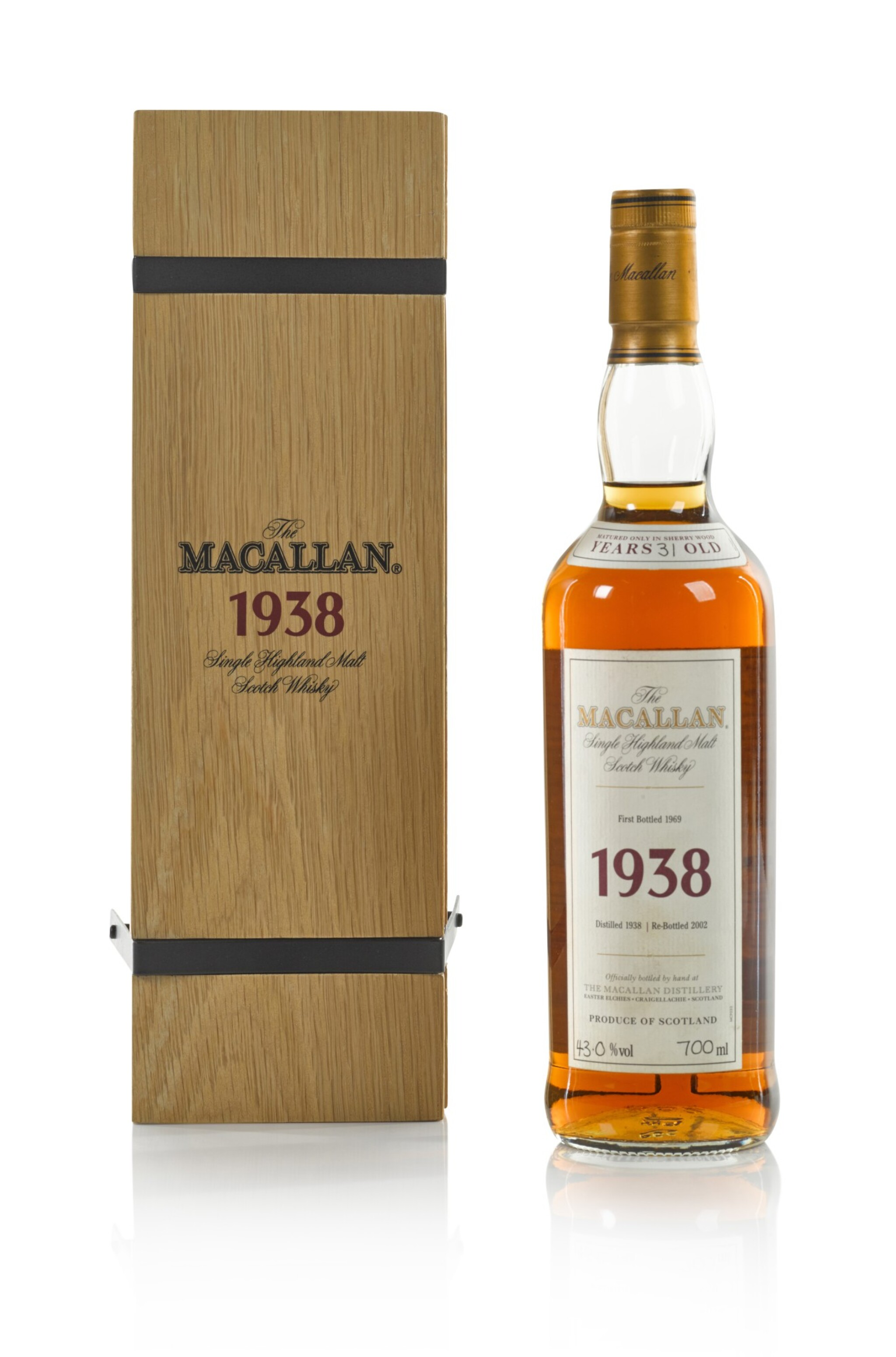 View 1 of Lot 10. The Macallan Fine & Rare 31 Year Old 43.0 abv 1938 .