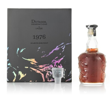 View 3. Thumbnail of Lot 39. Dictador Generations In Lalique 'The Proof Bottle' 43.0 abv 1976 .