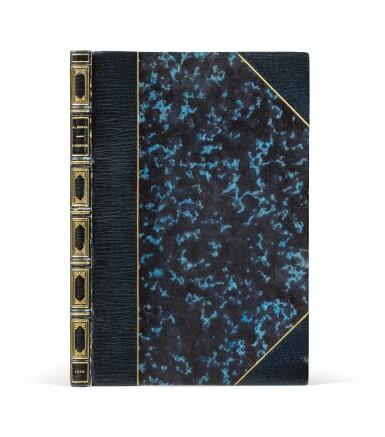"""View 2. Thumbnail of Lot 94.  L'Orestie. 1856. Ed. originale. Rare exemplaire sur papier bleu, avec envoi """"à la mort et à l'exil...""""."""