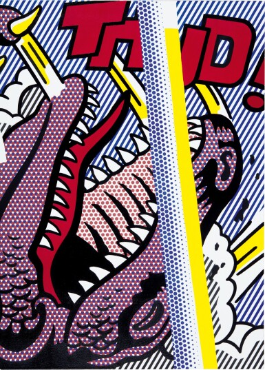 View 3. Thumbnail of Lot 1112. Roy Lichtenstein 羅伊・李奇登斯坦 | Reflections on Thud! .