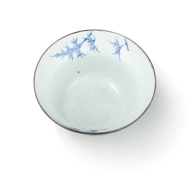 View 3. Thumbnail of Lot 374. A blue and white ogee bowl, China, Qing Dynasty, 18th century.