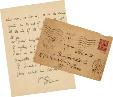 View 2. Thumbnail of Lot 94. LAWRENCE | Autograph letter signed, to Leeson, on the Paris Peace Conference, January 1919.