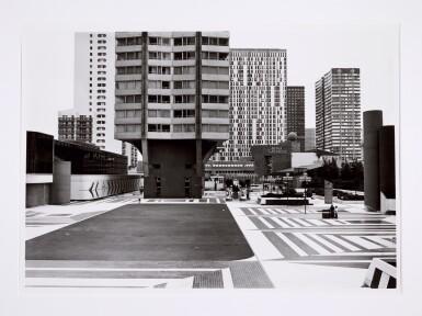 View 7. Thumbnail of Lot 36. 'Clinton Road', Murdock Cottages, London, 1977; 'Panorama 2', Beaugrenelle, Paris, 1979; 'Gereonswall', Koln, 1980; 'Calle Tintoretto', Venezia, 1990.