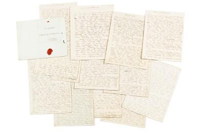 75 lettres autographes au comte de Vaudreuil entre 1792 et 1804.