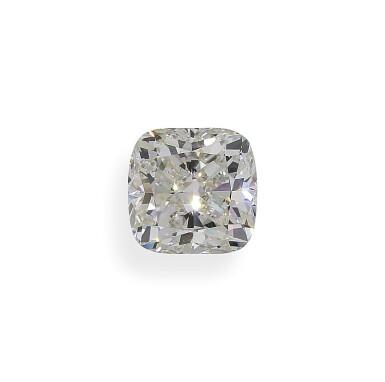 A 5.09 Carat Cushion-Cut Diamond, J Color, VS2 Clarity