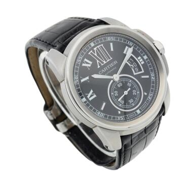 View 3. Thumbnail of Lot 132. Reference 3299 Calibre  A stainless steel automatic wristwatch with date, Circa 2010  .